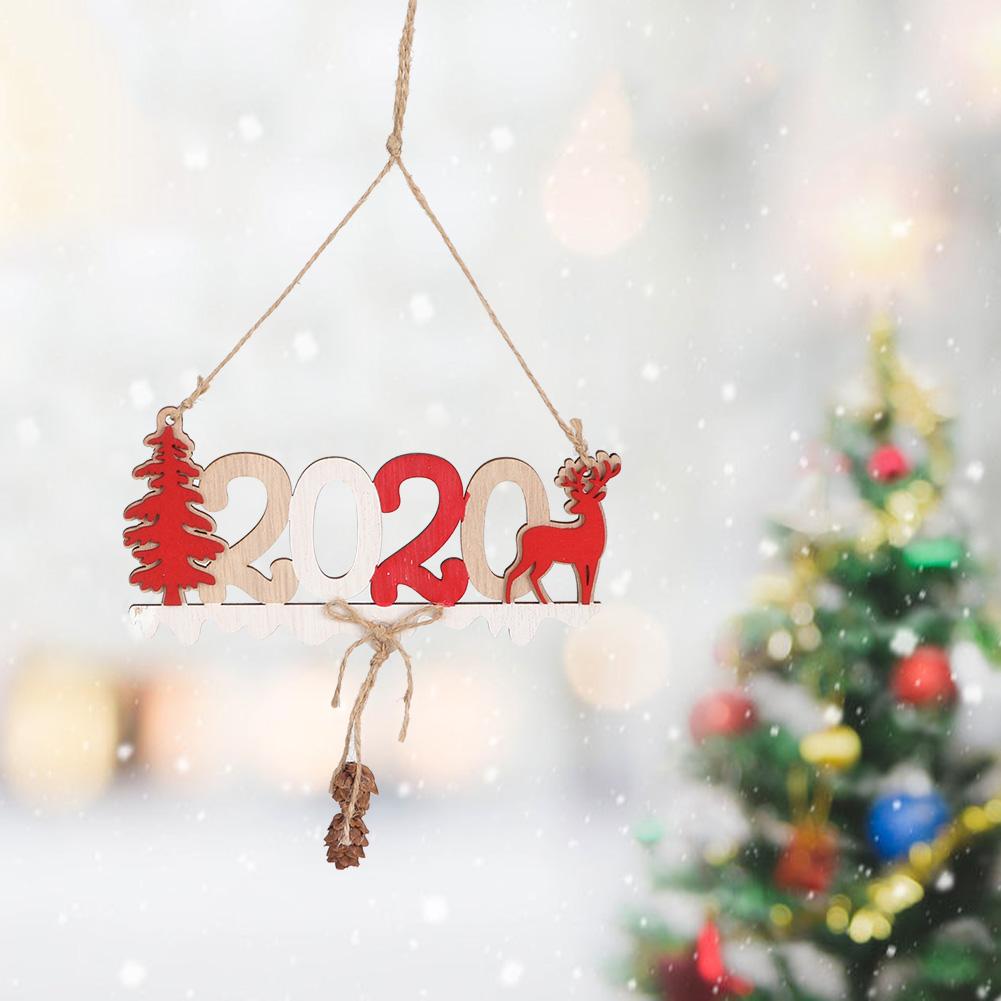 Christmas-Ornaments-Wooden-Star-Elk-Snowflakes-Pendants-For-Xmas-Tree-Home-Decor miniatura 39