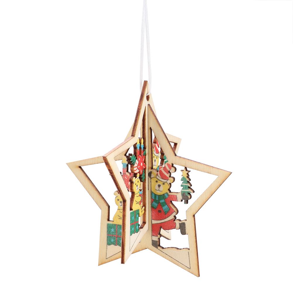 Christmas-Decorations-Tree-Ornament-Xmas-Hanging-Accessories-Wooden-DIY-Pendant thumbnail 77
