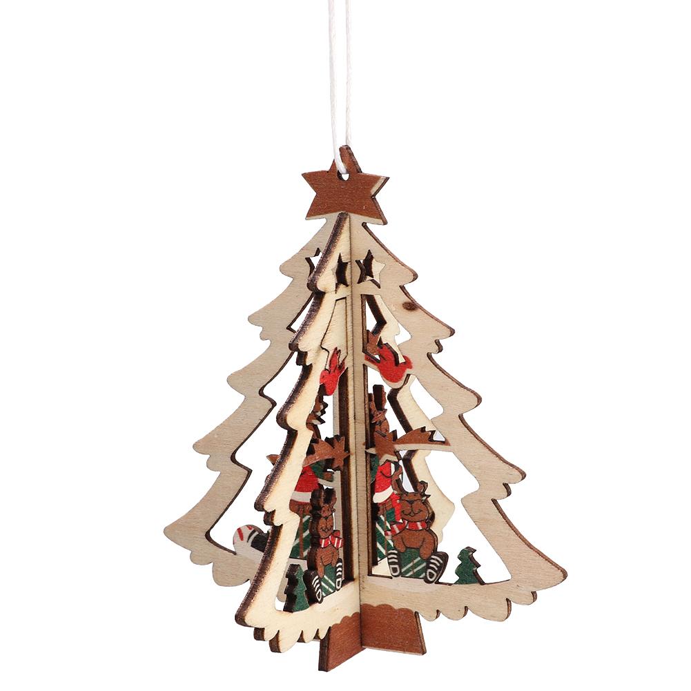Christmas-Decorations-Tree-Ornament-Xmas-Hanging-Accessories-Wooden-DIY-Pendant thumbnail 82