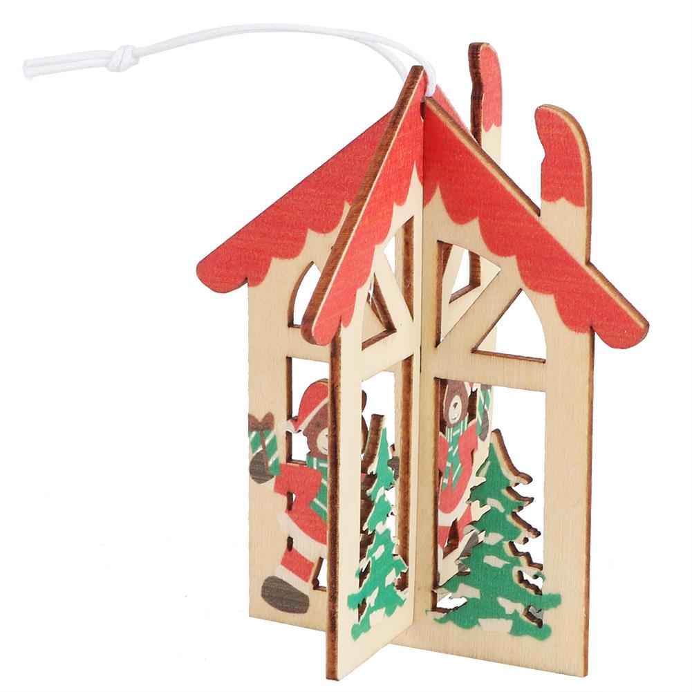 Christmas-Decorations-Tree-Ornament-Xmas-Hanging-Accessories-Wooden-DIY-Pendant thumbnail 21