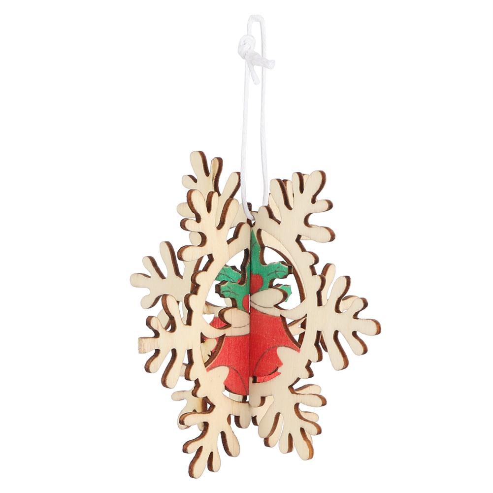 Christmas-Ornaments-Wooden-Star-Elk-Snowflakes-Pendants-For-Xmas-Tree-Home-Decor miniatura 20