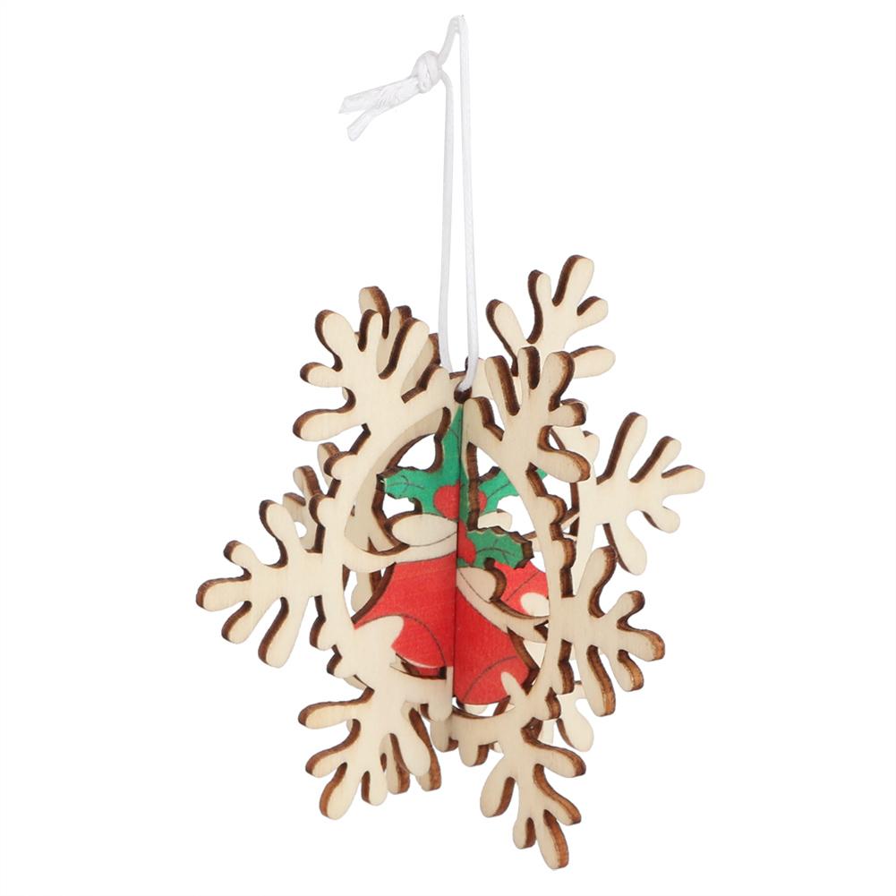 Christmas-Decorations-Tree-Ornament-Xmas-Hanging-Accessories-Wooden-DIY-Pendant thumbnail 26