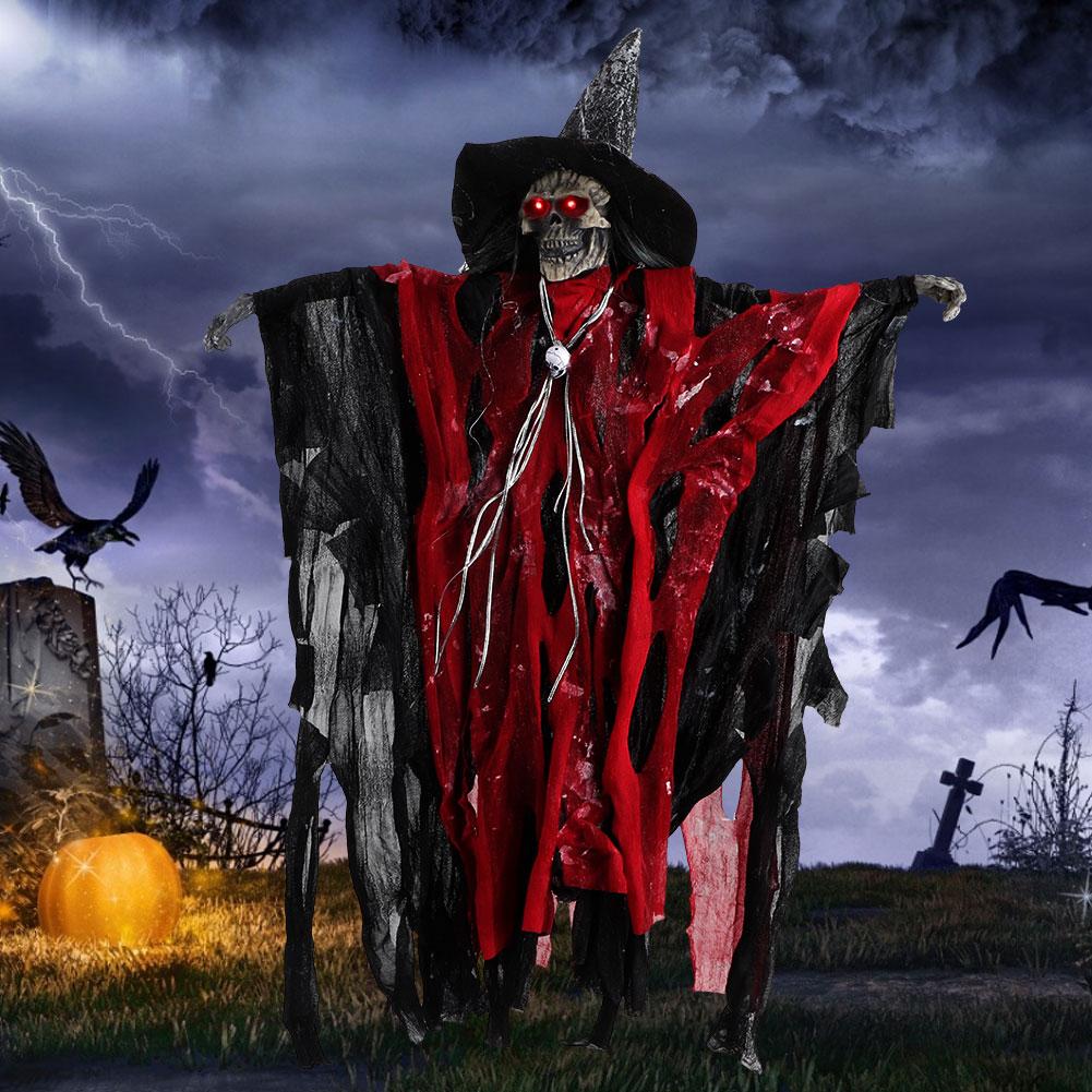 DIY Halloween Skeleton Scary Props Hanging Party Door