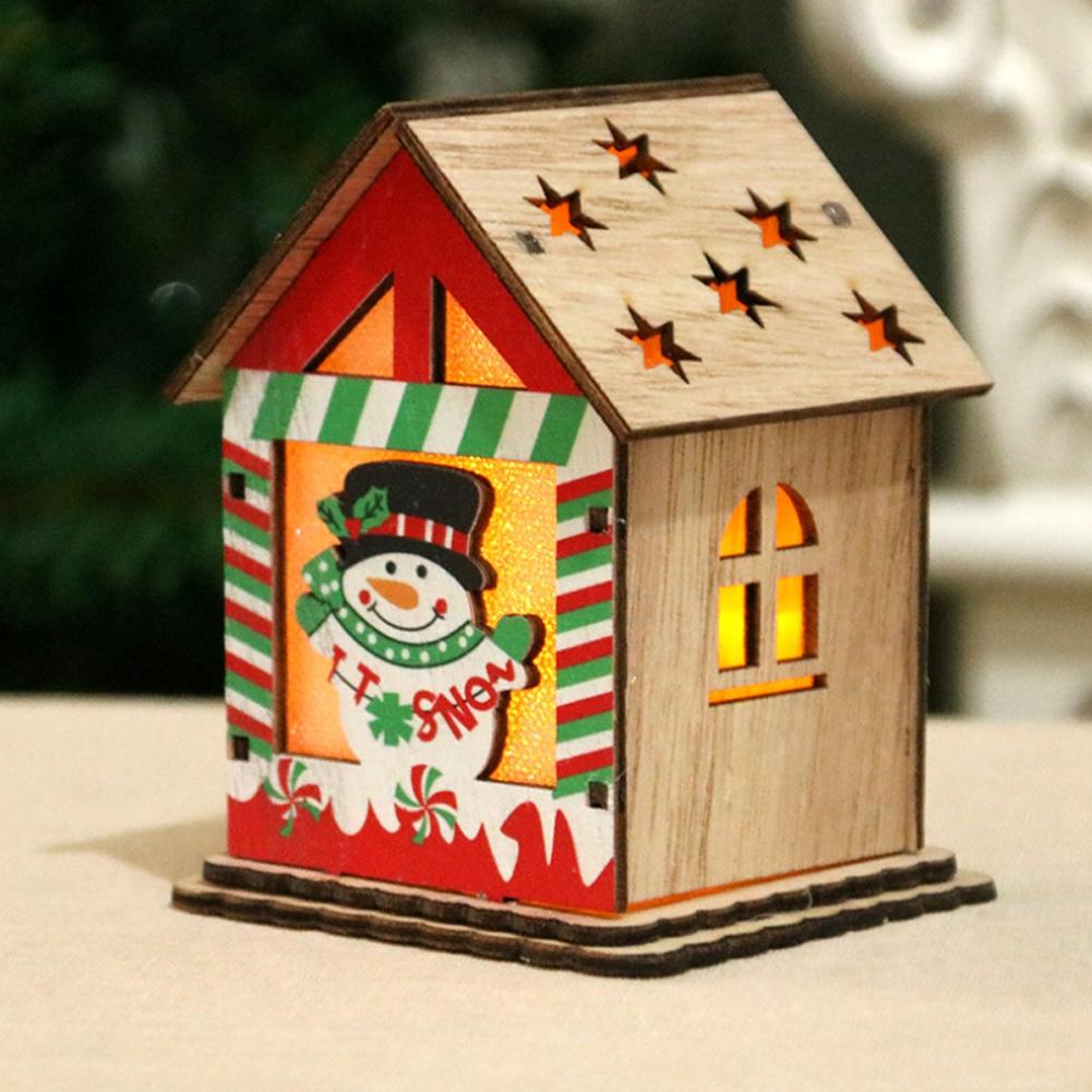 Christmas-Decorations-Tree-Ornament-Xmas-Hanging-Accessories-Wooden-DIY-Pendant thumbnail 103
