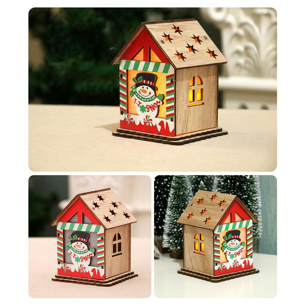 Christmas-Decorations-Tree-Ornament-Xmas-Hanging-Accessories-Wooden-DIY-Pendant thumbnail 104