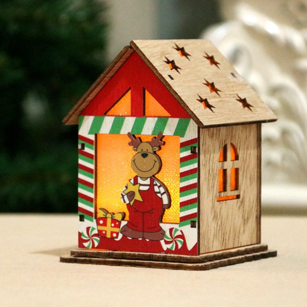 Christmas-Decorations-Tree-Ornament-Xmas-Hanging-Accessories-Wooden-DIY-Pendant thumbnail 106
