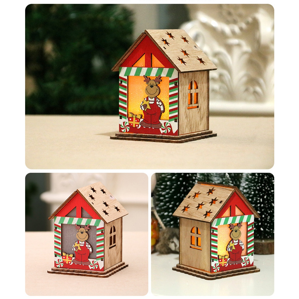 Christmas-Decorations-Tree-Ornament-Xmas-Hanging-Accessories-Wooden-DIY-Pendant thumbnail 107