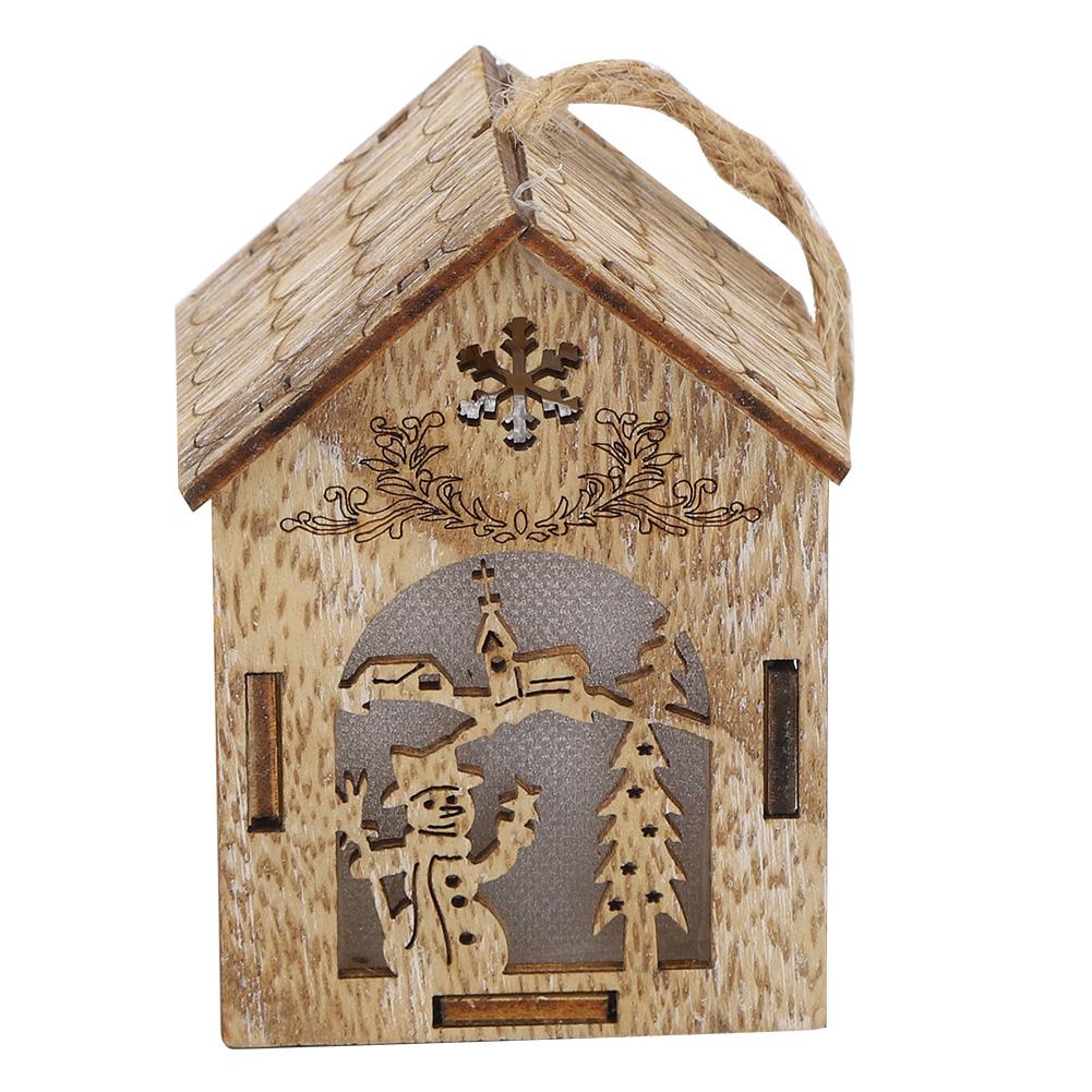 Christmas-Decorations-Tree-Ornament-Xmas-Hanging-Accessories-Wooden-DIY-Pendant thumbnail 56