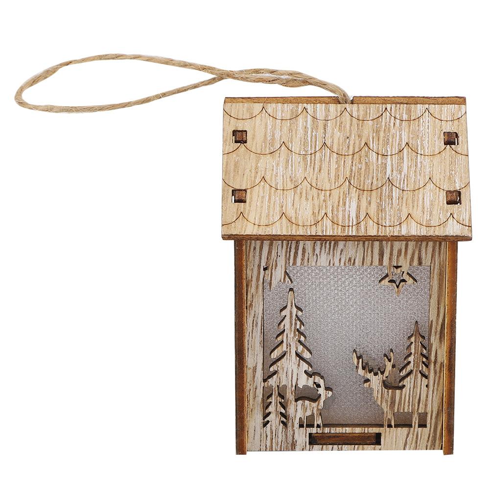 Christmas-Decorations-Tree-Ornament-Xmas-Hanging-Accessories-Wooden-DIY-Pendant thumbnail 59