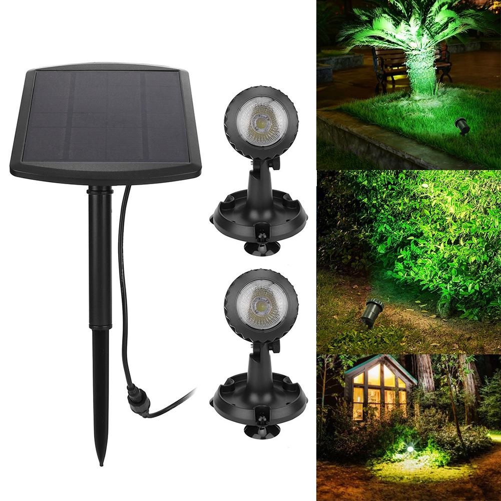 1 LED Solar Power Garden Lamp Spot Light Outdoor Landscape Path Spotlight