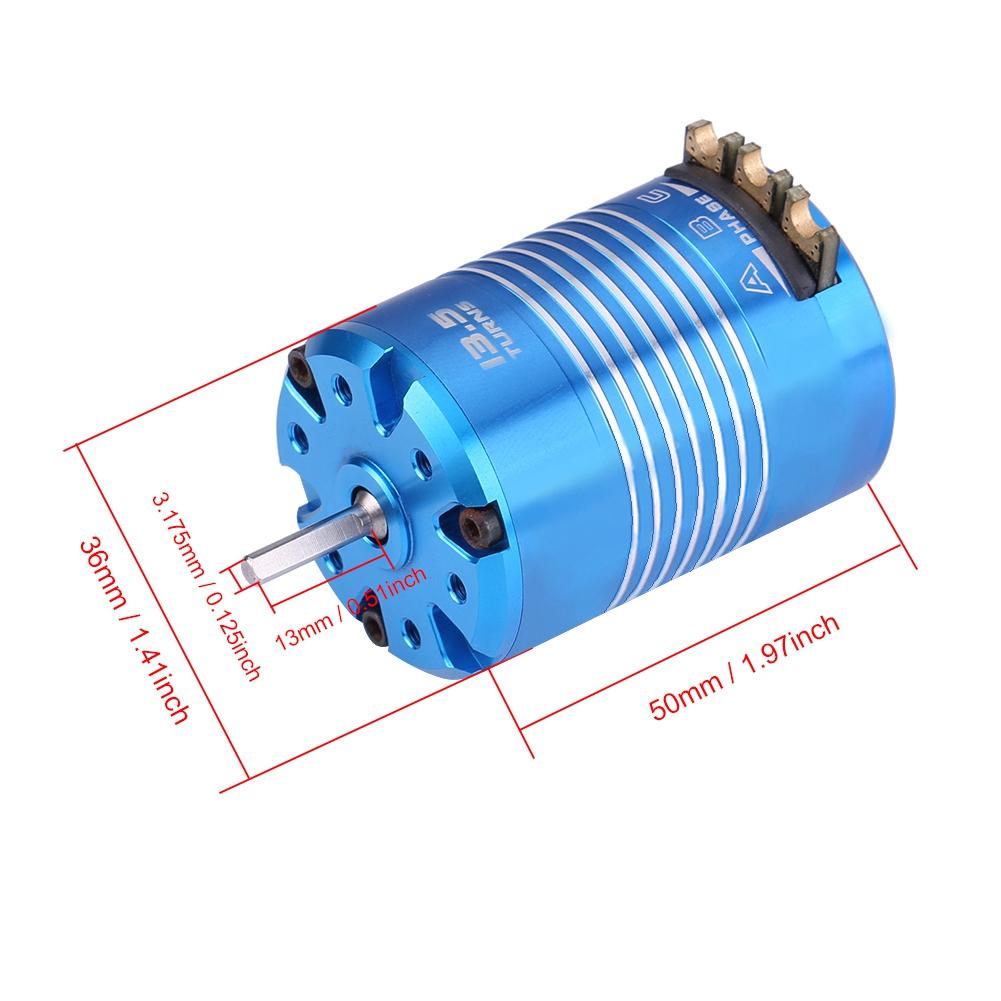 540 4.5T,13.5T Sensored Brushless Motor für 1//10 Remote Control Auto Schaft3,175