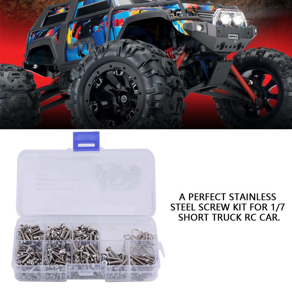 1Pcs-Stainless-Steel-Screw-Kit-with-Box-for-1-7-Short-RC-Car-Traxxas-UDR-TRX-4 miniature 13