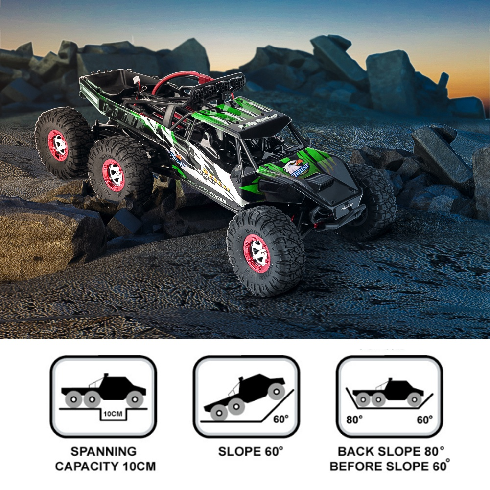 112 Scale 2.4G 6 Wheel Drive Brushless RC Car 60 km/h Off-road Crawler Truck