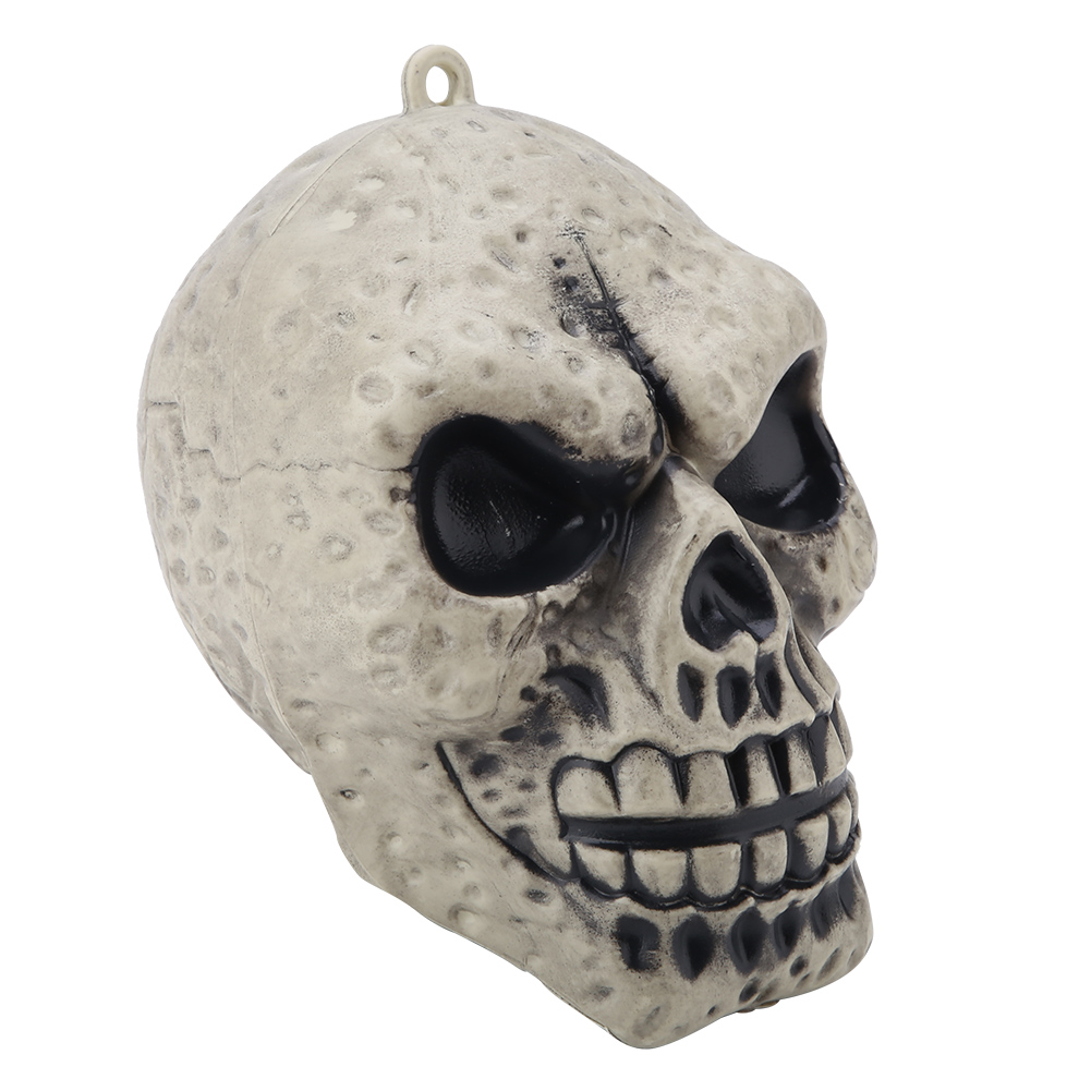 Party-Toy-PVC-Skull-Statue-Figurine-Human-Skeleton-Head-Halloween-Home-Bar-Decor thumbnail 11