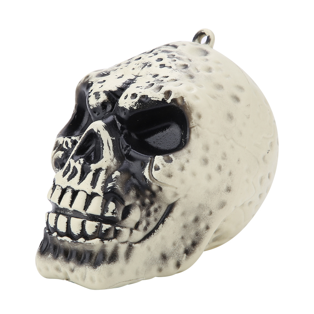 Party-Toy-PVC-Skull-Statue-Figurine-Human-Skeleton-Head-Halloween-Home-Bar-Decor thumbnail 14