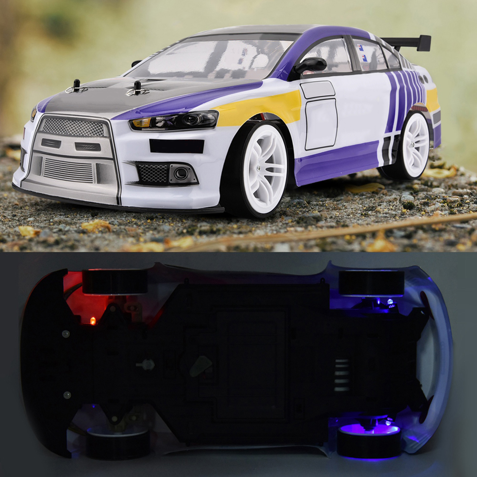 70km/h 1/10 Drive 4WD Remote Control Model RC Racing Car Drift Toy Vehicle