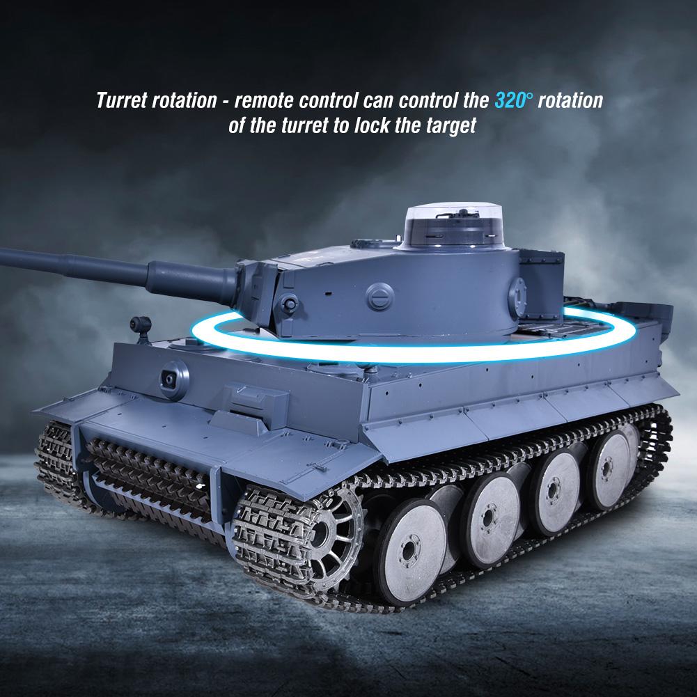 RC Panzer Tank 2.4G 1 16 German Tiger Heng Heng Heng Long Rauch Sound Schuss Spielzeug 13ddf5