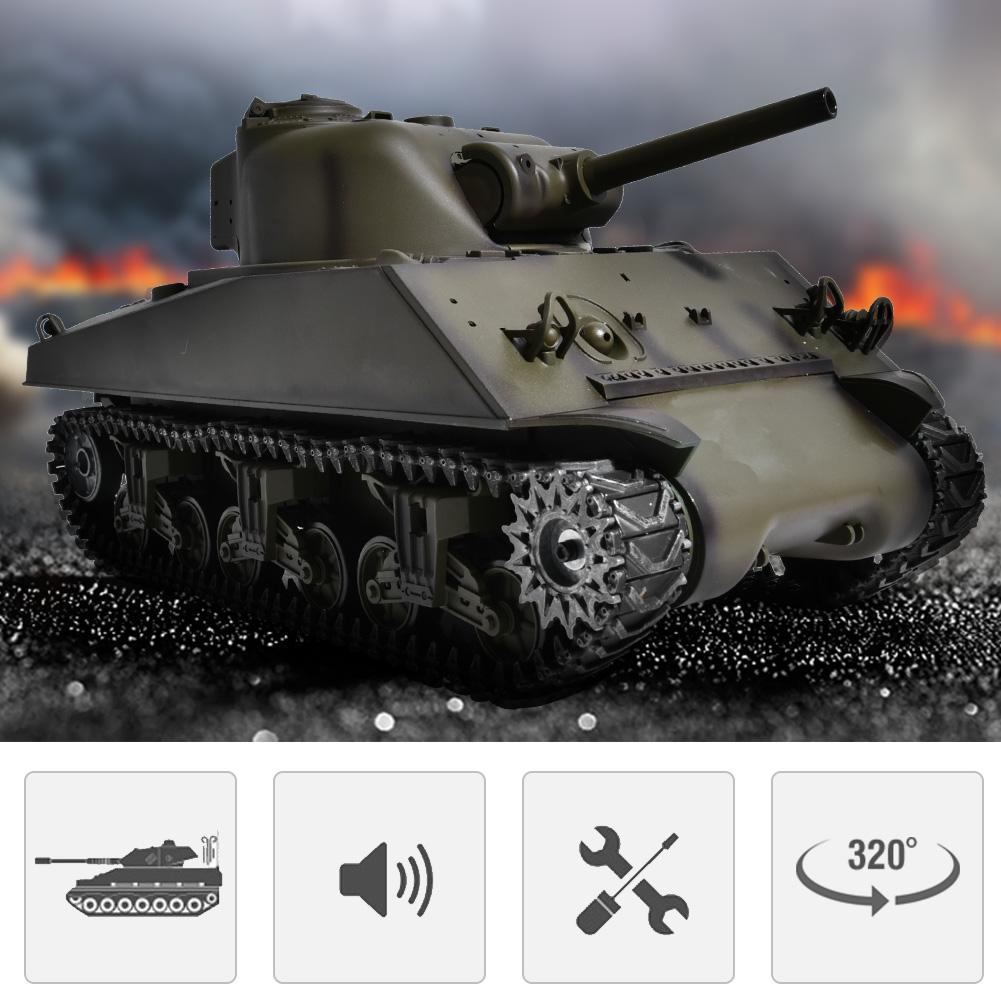 Edición de actualización de aleación henglong 3898 1 16 RC Tanque USA SHERMAN M4A3 Battle Walker