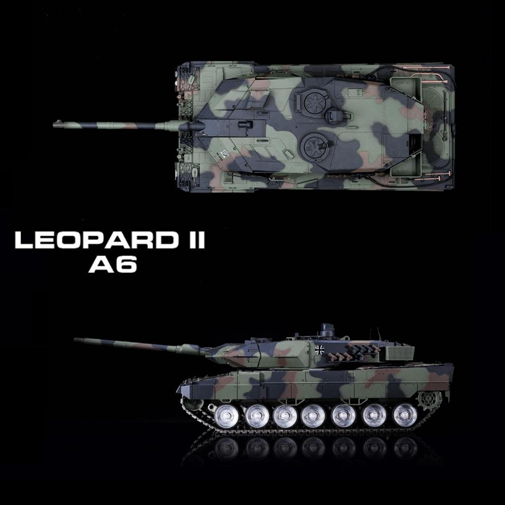 Humo + Sound + disparo lleno de metal RC tanques German 2 a6 tiger 1 16 tanques de combate