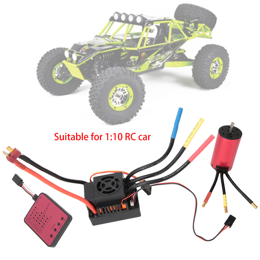 For  Off strada auto S3674 2650KV Brushless Motor with 120A ESC   Program autod Combo  sport dello shopping online