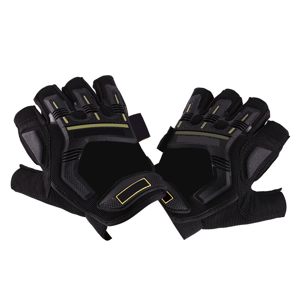 Adult-Kid-Motorbike-Motocross-Racing-Skating-Fingerless-HALF-FINGER-GEL-Gloves
