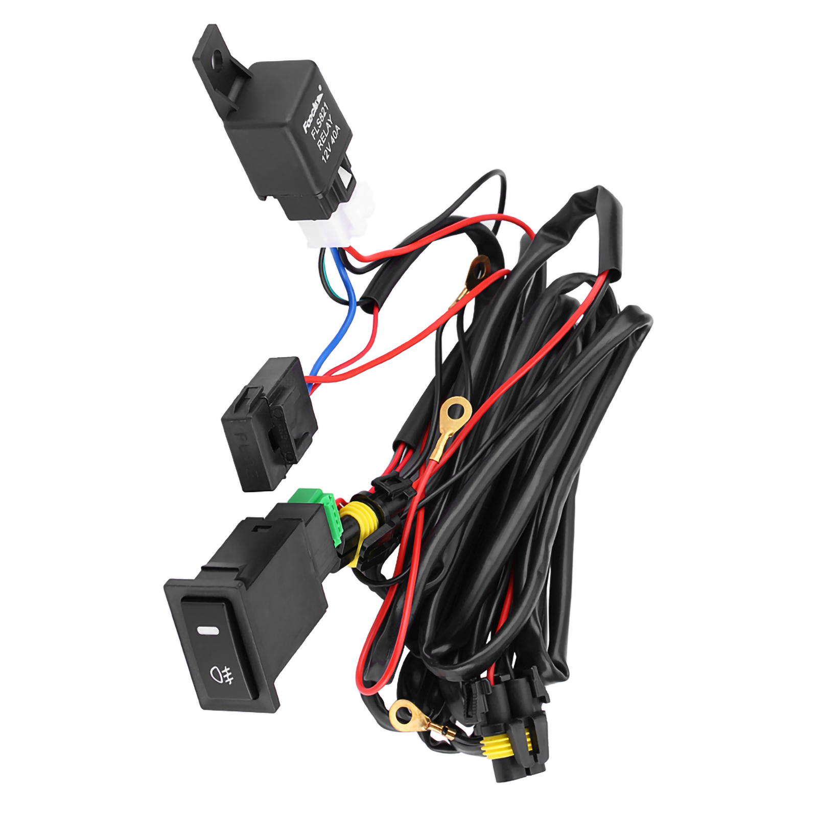12v Car LED On/off Switch Fog Driving Light Wiring Harness Fuse ...