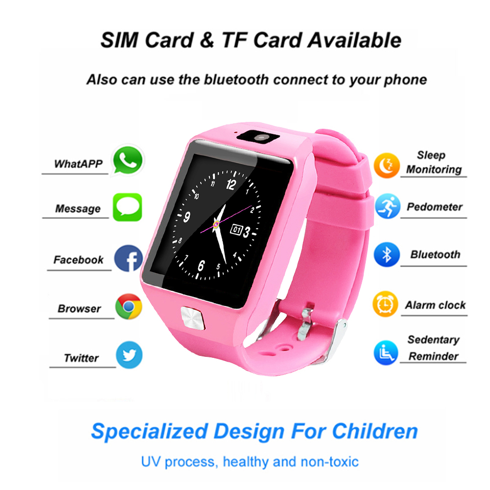 Anti-lost-Children-Kids-Smart-Phone-Watch-Bluetooth-SIM-Camera-for-Android-IOS thumbnail 30