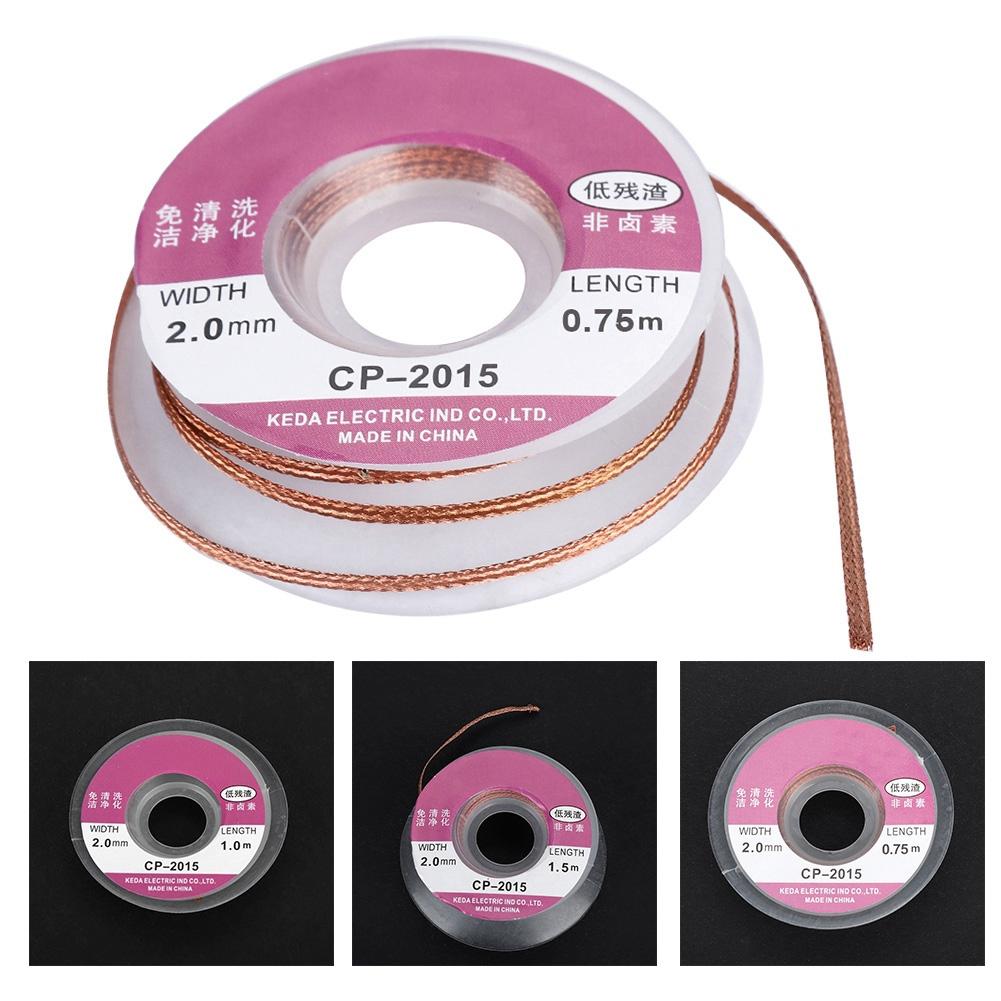 10pcs 1.0mm Desoldering Braid Solder Remover Sucker Flux Wick Cable Wire
