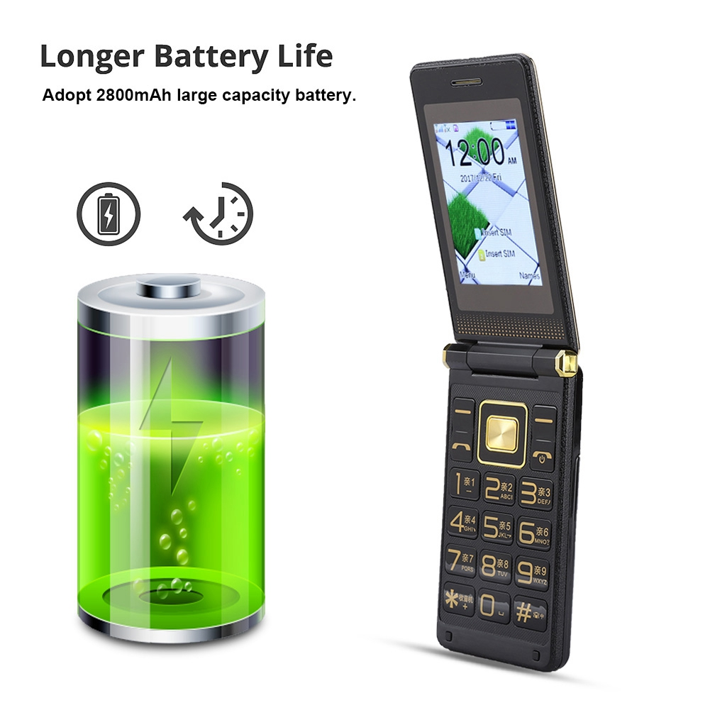 GSM-Mobile-Phone-Unlocked-Touch-Screen-Voice-King-Dual-SIM-Elderly-Man-CellPhone thumbnail 8