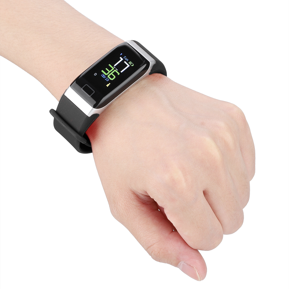 Watch-IP68-Sports-Bracelet-Color-Screen-Heart-Rate-Blood-Pressure-Monitoring thumbnail 14