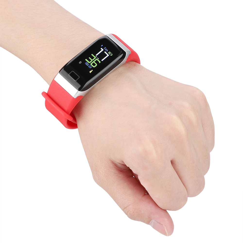Watch-IP68-Sports-Bracelet-Color-Screen-Heart-Rate-Blood-Pressure-Monitoring thumbnail 18