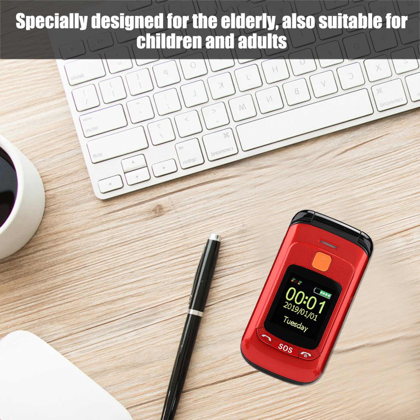 F899Full-Voice-Assistance-Touch-Screen-Flip-Mobile-Phone-2800mAh-Dual-Card-Phone miniature 7