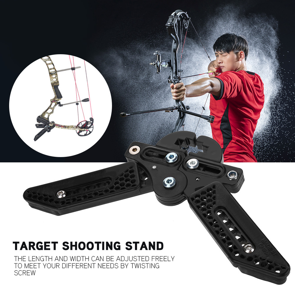 Black-3D-Target-Hunting-Compound-Bows-Support-Rack-Archery-Bow-Stand-Holder-Legs thumbnail 20