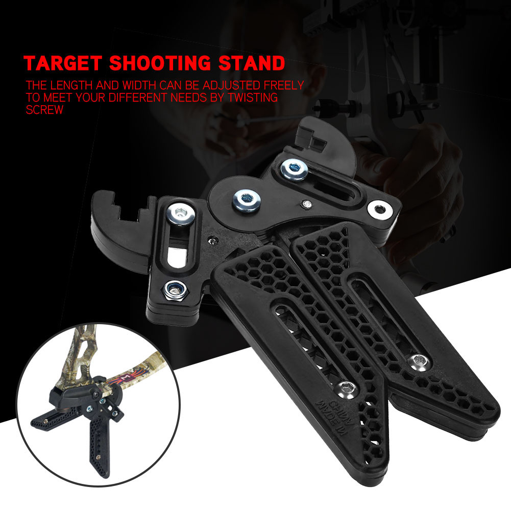 Black-3D-Target-Hunting-Compound-Bows-Support-Rack-Archery-Bow-Stand-Holder-Legs thumbnail 21