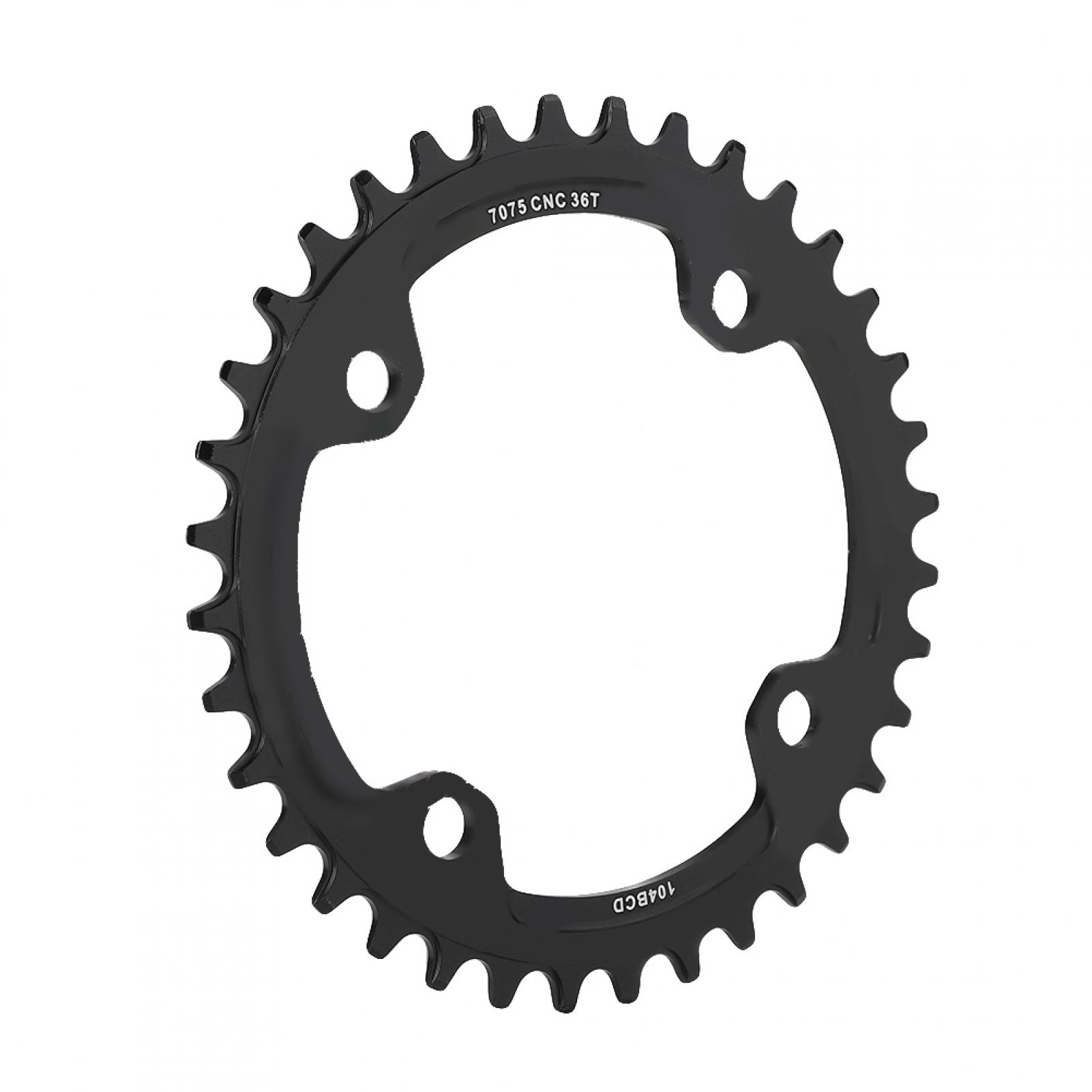 MTB-Bike-Narrow-Wide-Round-Oval-Chainring-Ring-104-130mm-22-32-34-36-38-44-53T thumbnail 50
