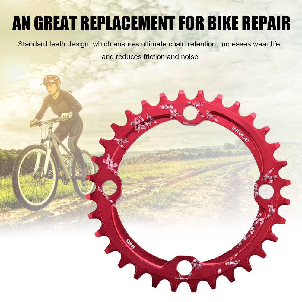 MTB-Bike-Narrow-Wide-Round-Oval-Chainring-Ring-104-130mm-22-32-34-36-38-44-53T thumbnail 55