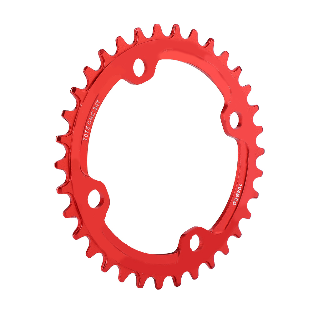 MTB-Bike-Narrow-Wide-Round-Oval-Chainring-Ring-104-130mm-22-32-34-36-38-44-53T thumbnail 58