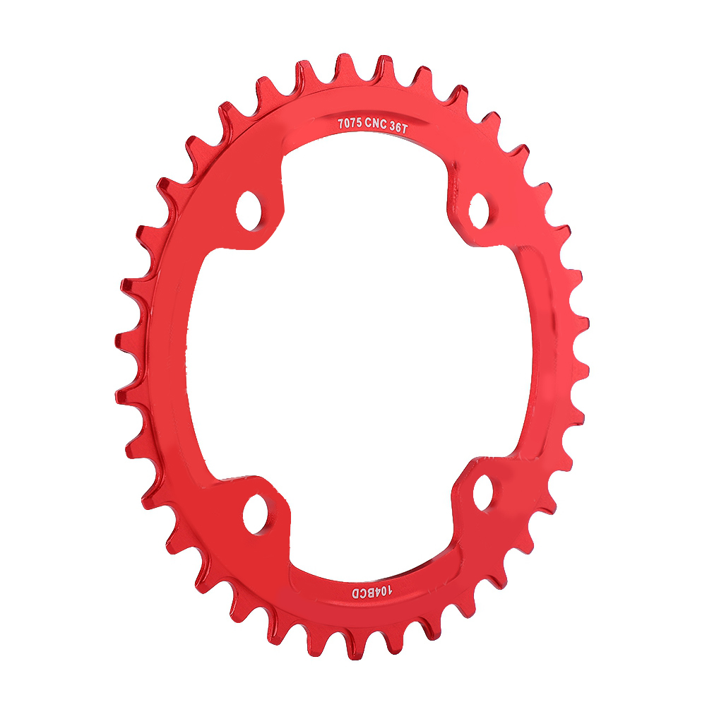 MTB-Bike-Narrow-Wide-Round-Oval-Chainring-Ring-104-130mm-22-32-34-36-38-44-53T thumbnail 61