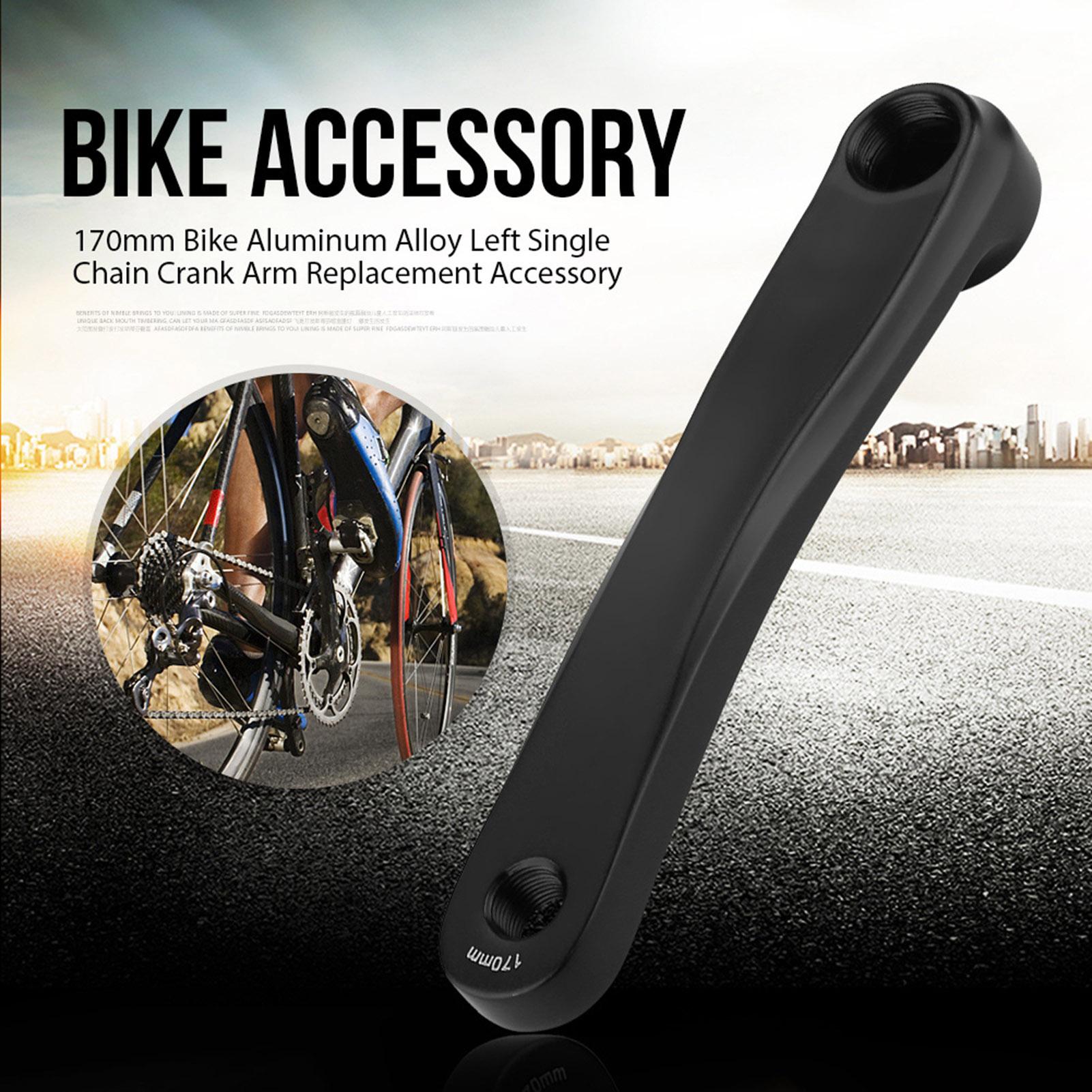 170mm-Bike-Aluminum-Alloy-Left-Single-Chain-Crank-Arm-Replacement-Accessory thumbnail 7