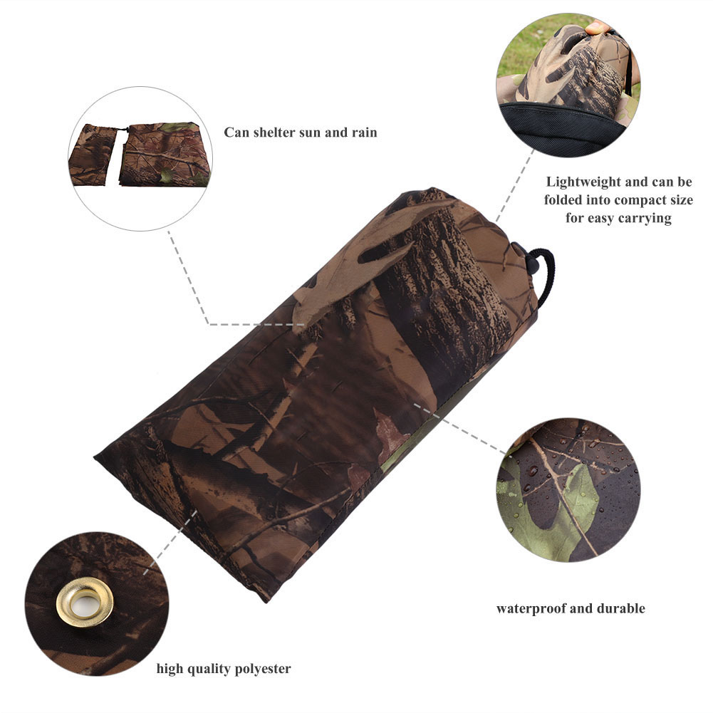 Practical-Tarp-Army-Ultralight-Sun-Shelter-Tent-Hiking-Camping-Rain-Cover-Room thumbnail 12