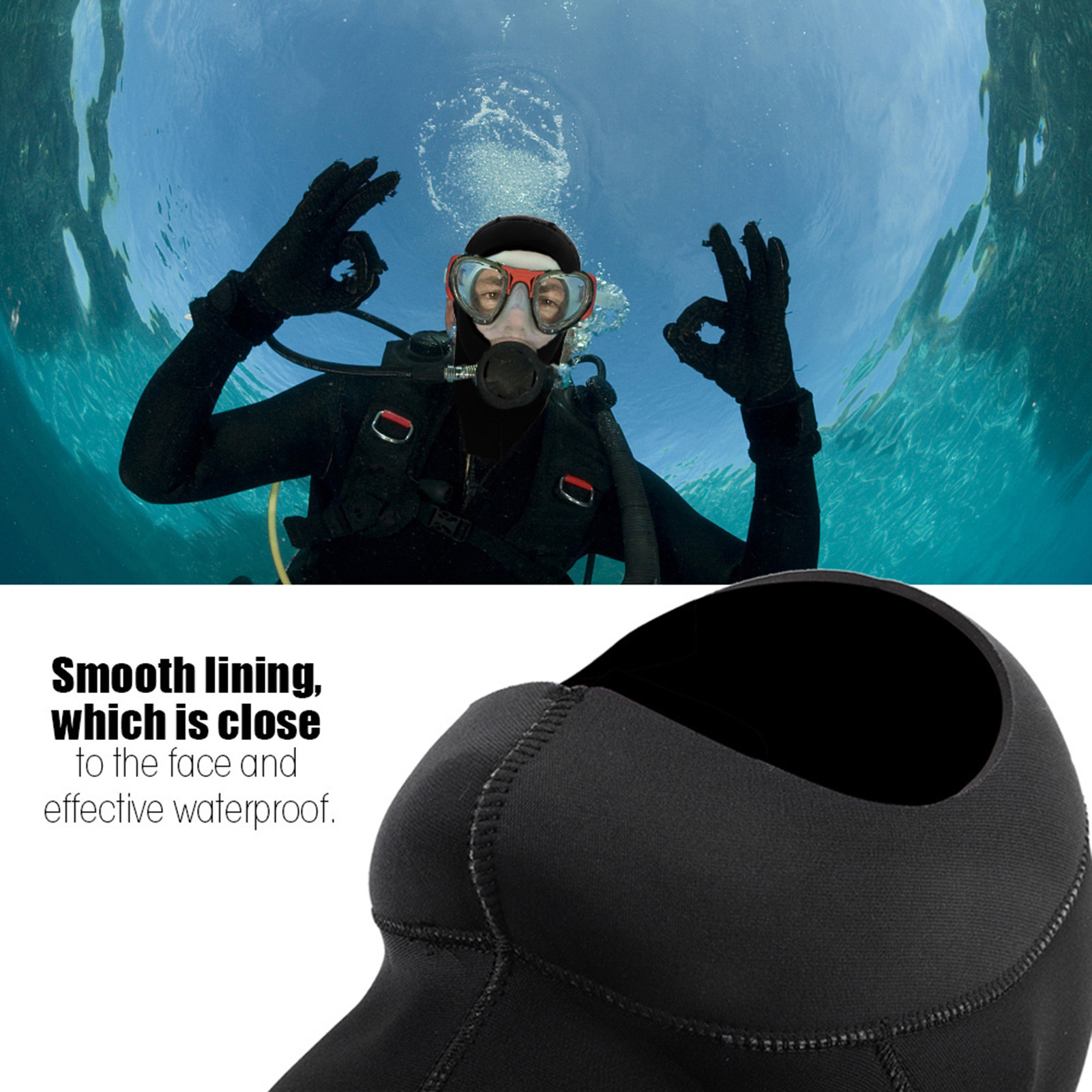 3mm-Neoprene-Scuba-Diving-Cap-Swimming-Warm-keeping-Wetsuit-Snorkeling-Hat-Hood thumbnail 14