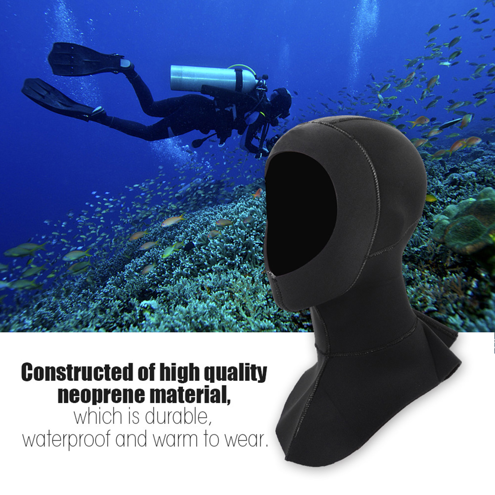3mm-Neoprene-Scuba-Diving-Cap-Swimming-Warm-keeping-Wetsuit-Snorkeling-Hat-Hood thumbnail 15