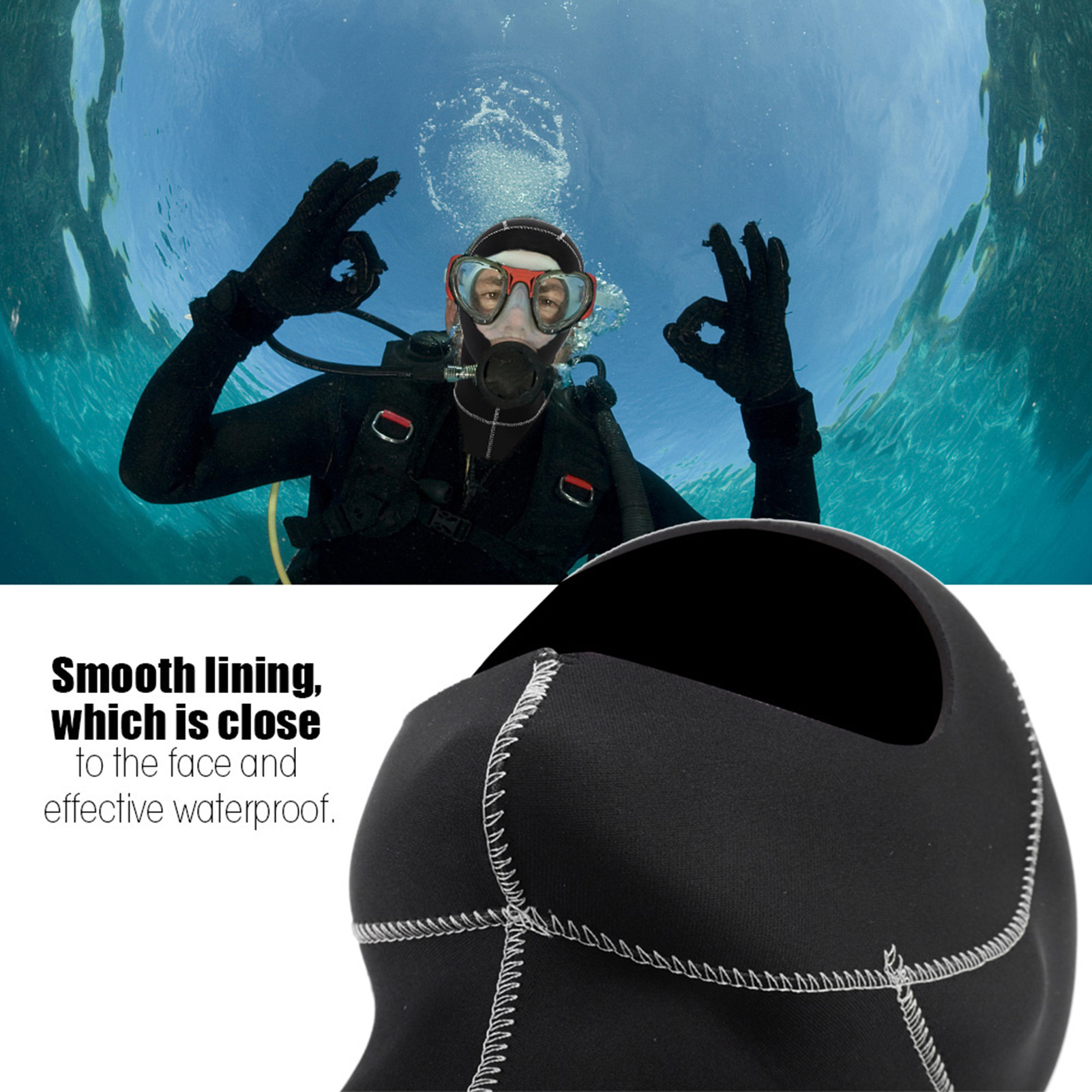 3mm-Neoprene-Scuba-Diving-Cap-Swimming-Warm-keeping-Wetsuit-Snorkeling-Hat-Hood thumbnail 17