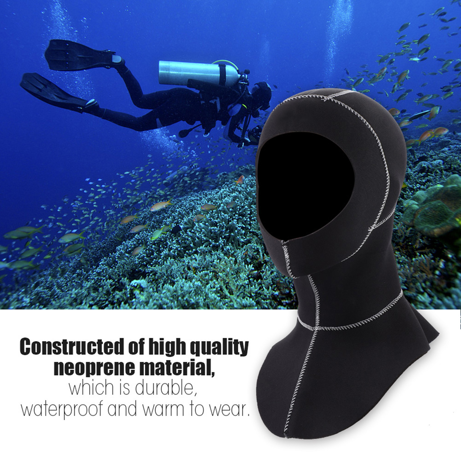 3mm-Neoprene-Scuba-Diving-Cap-Swimming-Warm-keeping-Wetsuit-Snorkeling-Hat-Hood thumbnail 18