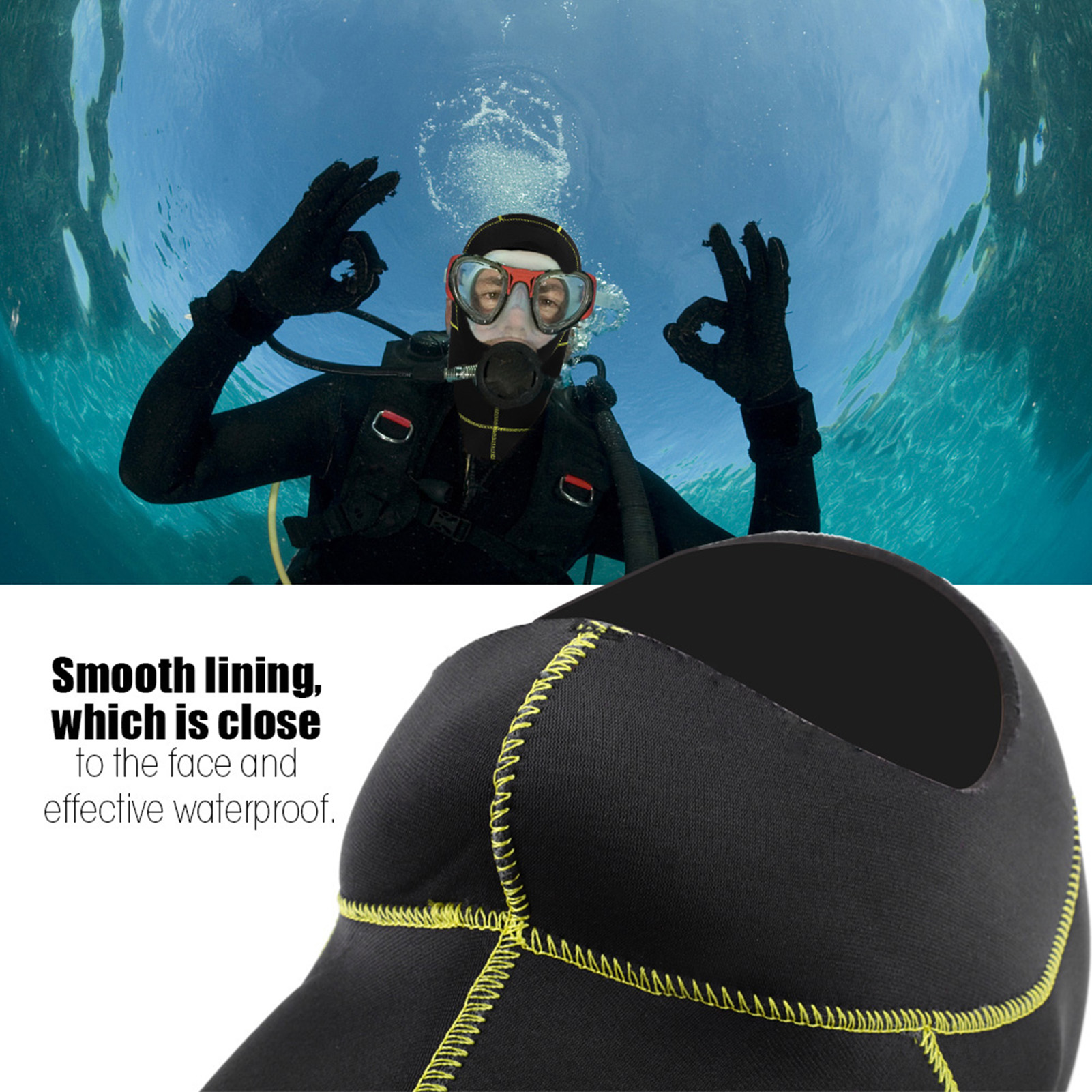 3mm-Neoprene-Scuba-Diving-Cap-Swimming-Warm-keeping-Wetsuit-Snorkeling-Hat-Hood thumbnail 20