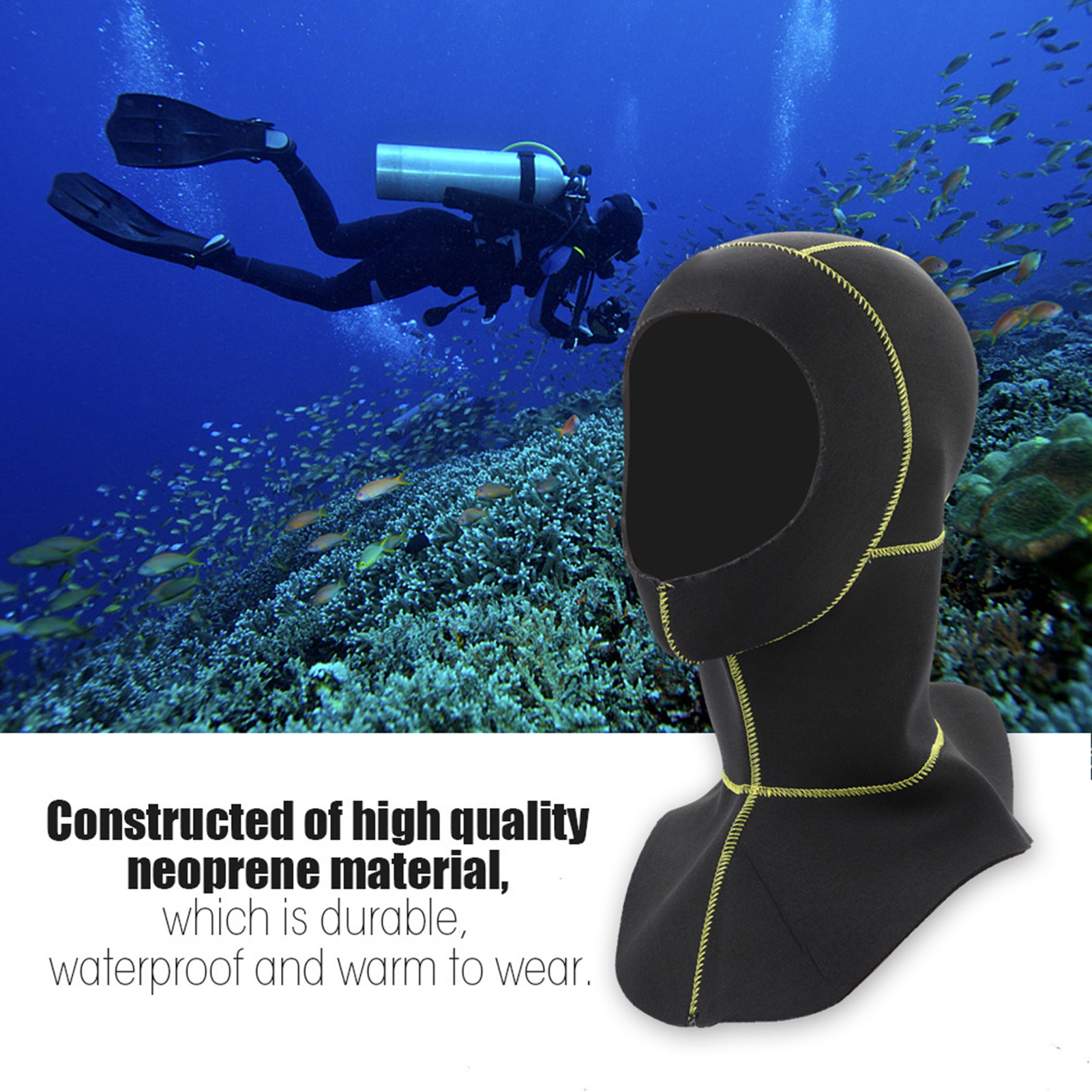 3mm-Neoprene-Scuba-Diving-Cap-Swimming-Warm-keeping-Wetsuit-Snorkeling-Hat-Hood thumbnail 21