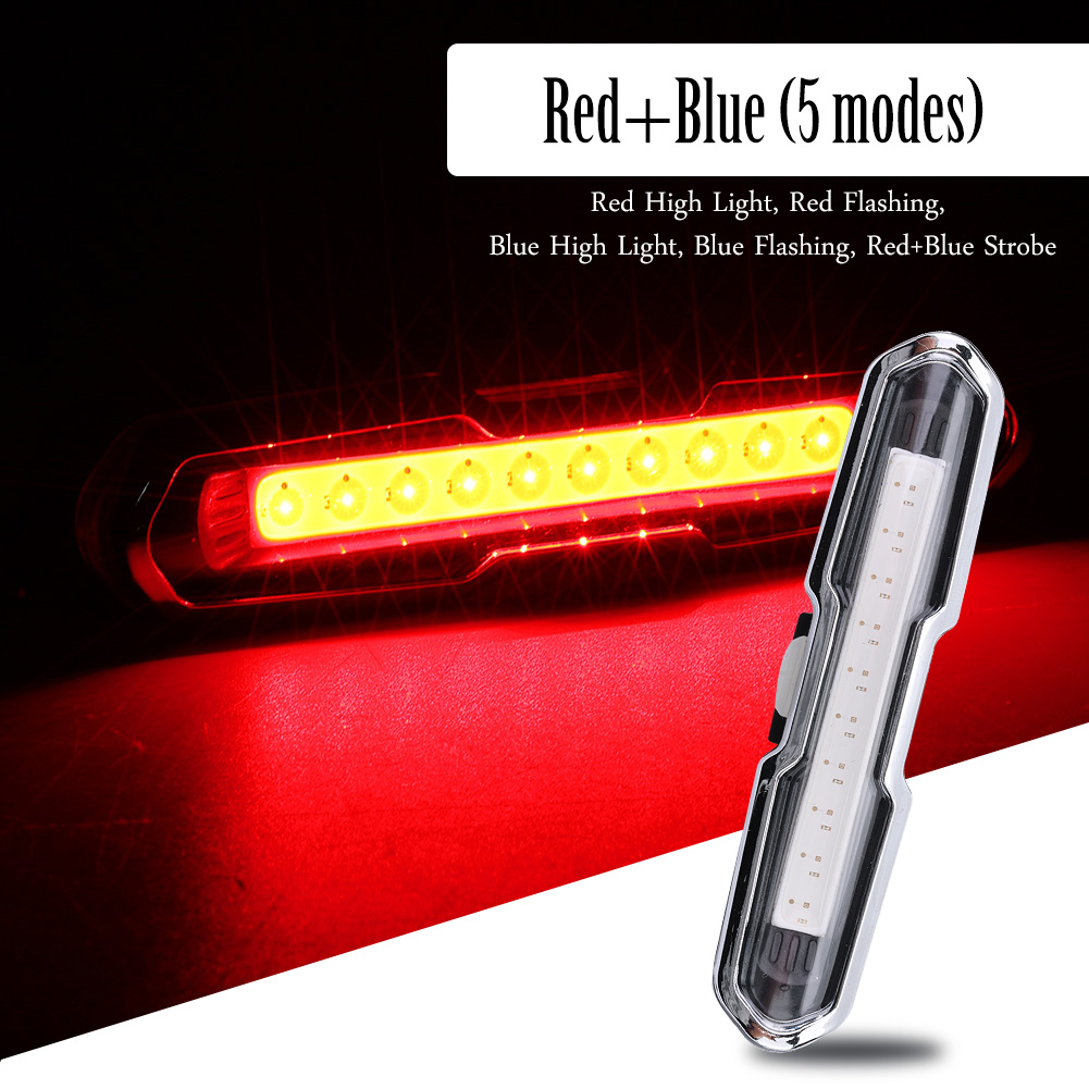 USB-Rechargeable-LED-Bike-Tail-Light-Bicycle-Safety-Cycling-Warning-Rear-Lamp miniatura 3