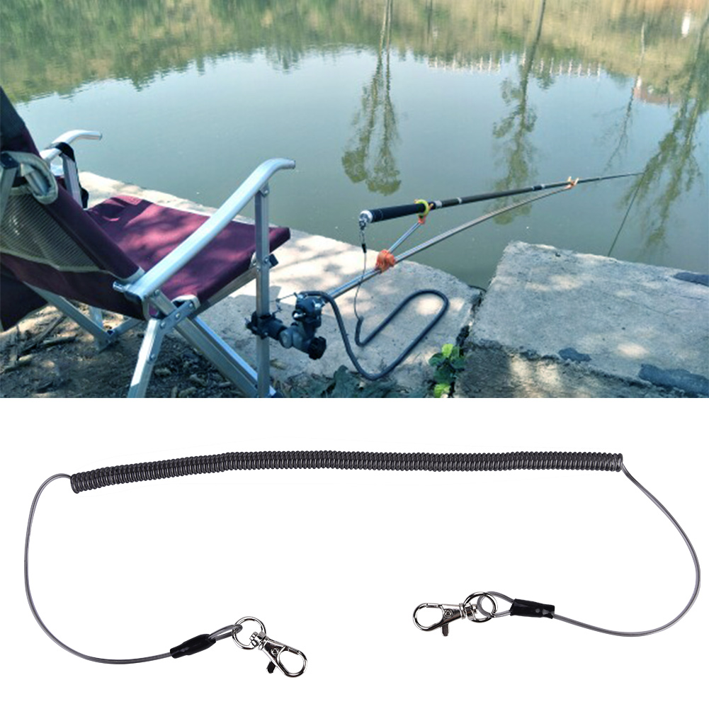 Fly Fishing Lanyard Retractable Coiled Rope Net Quick Release Holder Buckle GL