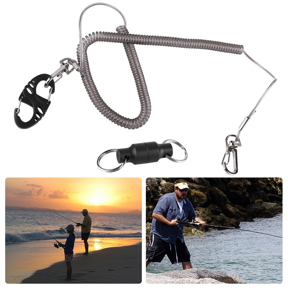 Fly-Fishing-Lanyard-Retractable-Coiled-Rope-Net-Quick-Release-Holder-Buckle-DY thumbnail 17