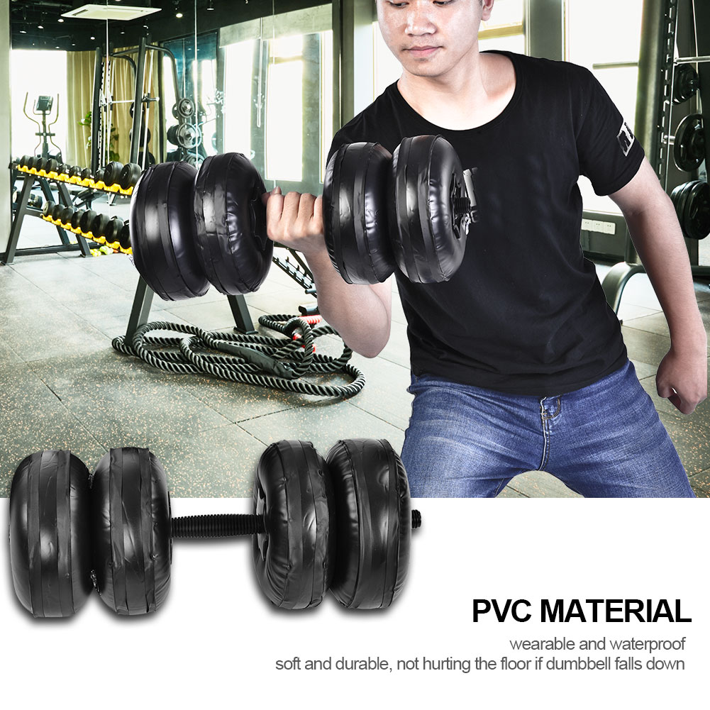 Adjustable Water-filled Exercise Dumbbell Hand Weight Bodybuilding Gym Exercise Water-filled Portable 8cc7a2